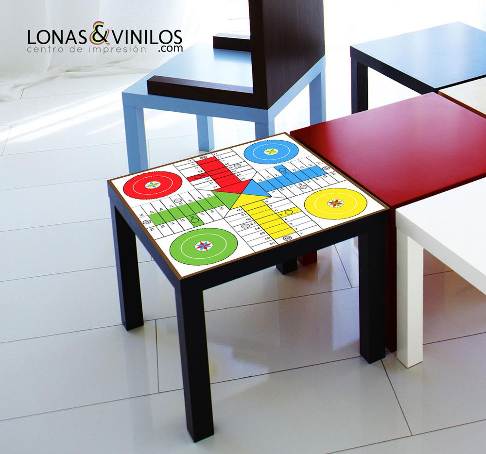 Decora y entretiene con estos vinilos de juegos de mesa - Vinilos para mesas ...
