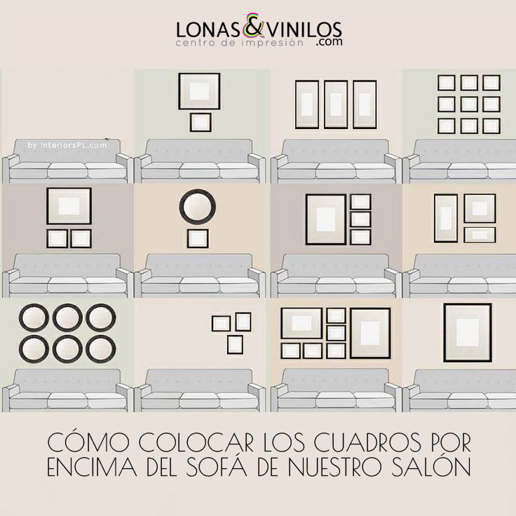 Ideas Para Decorar Con Cuadros La Pared Del Sof De