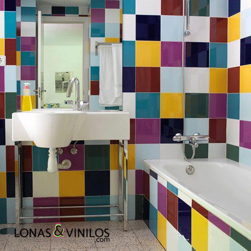 Renueva tu ba o con estos vinilos de azulejos blog for Vinilo pared completa