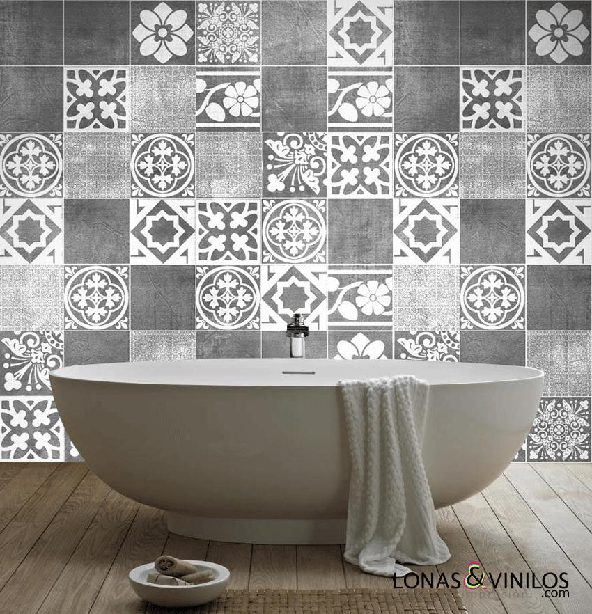 Renueva tu ba o con estos vinilos de azulejos blog - Azulejos decorativos para banos ...